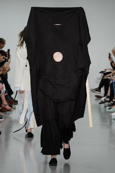 Craig Green constructs giant fabric veils for Spring Summer 2016 fashion collection.