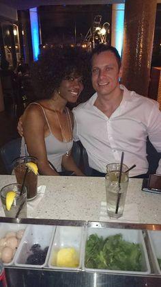 Mark and Natacha - Beautiful interracial couple on a date night #love #wmbw #bwwm