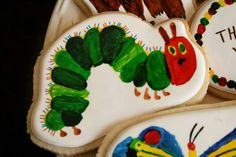 Painted Very Hungry Caterpillar Cookie