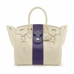 Wimbledon Soft Ricky Bag - Ralph Lauren Handheld - Ralph Lauren UK