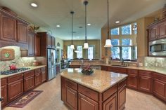 A gourmet dream kitchen that makes cooking a pleasure.
