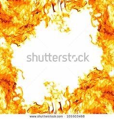 orange flame frame isolated on white background by Potapov Alexander, via Shutterstock