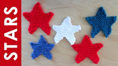 How to Knit a Star Shape with Studio Knit - Free Pattern + Video Tutorial Knitting Videos, Knitting For Beginners, Loom Knitting, Knitting Stitches, Free Knitting, Knitting Projects, Easy Knitting Patterns, Star Patterns, Star Stitch