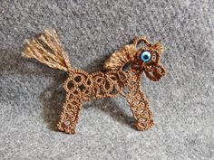 Carollyn's Tatting Blog: Little Pony With Tatted Lace by Yana Moroz .... with link to pattern