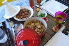 Cordeiro em marinada marroquina e quinoa com caponata