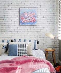 Мои авторские часы в интерьере  http://vk.com/olenadecor http://www.livemaster.ru/olenadecor коралловый,голубой,фламинго flamingo clock wallclock art clock artclock design clock pink blue white bird birds