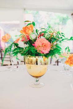 Floral and event design by Tinsel & Twine Event at Red Maple Vineyard Photography: Closer To Love Photography Romantic Wedding Centerpieces, Wedding Arrangements, Floral Arrangements, Wedding Flowers, Wedding Decor, Wedding Ideas, Greek Wedding, Elegant Wedding, New Years Eve Weddings