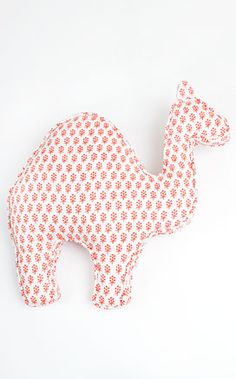 We could totally add a camel to the list, Camel Pillow by rikshawdesign: Hand block printed in India. Measures a generous for perfect snuggling! Alpacas, Baby Sewing Projects, Craft Projects, Camel Craft, Baby Baby Baby Oh, Kids Corner, Inspirational Gifts, Softies, Baby Quilts
