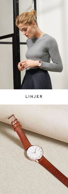 Elegant quartz timepieces with vegetable-tanned Italian leather