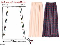 MAXI SKIRT: several models easy to do - catherine ropp - - MAXI JUPE : plusieurs modèles facile à faire MAXI SKIRT: several models easy to make Bettinael.Made in france - Skirt Patterns Sewing, Sewing Patterns Free, Sewing Clothes, Diy Clothes, Diy Kleidung, Make Your Own Clothes, Couture Sewing, Diy Couture, Sewing For Beginners