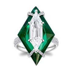 Signature technique, The Kissing Gems collection. Diamond ring by Boghossian High Jewelry.