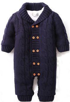 Baby cotton one-piece suit meninos roupas de bebe long sleeve romper baby infant winter warm hoody jumpsuit coverall for newborn