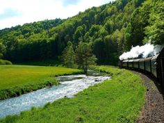 Upper Franconia railway is slow and will give enough time to look at scenery it is also much safer, Roads are small and curvy in this area. Take time to learn part of German history long before the III empire existed.