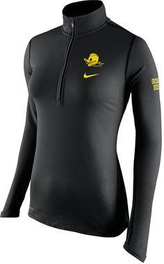 Nike Women's Oregon Ducks Tailgate Element Half Zip Shirt