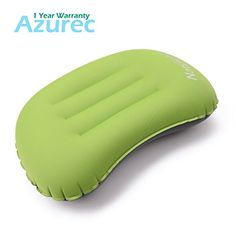 Azurec Ultralight Portable Compact Camping Travel Inflating Pillow Comfortable for Hiking Backpacking Green * Find out more about the great product at the image link.