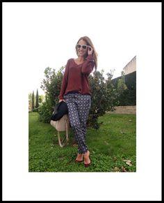 Paula Echevarría. Pantalón de SUITEBLANCO.  (Imagen vía TrasLaPistaDePaula).