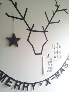 Easy Christmas decoration in your dorm room? Use washi tape!