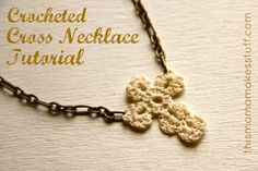 Tutorial: Crocheted Cross Necklace | This Mama Makes Stuff