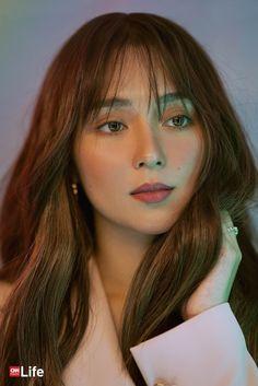 Filipina Actress, Filipina Beauty, Kathryn Bernardo Hairstyle, Hair 2018, Digital Portrait, Celebs, Celebrities, Hairstyles With Bangs, Art Girl