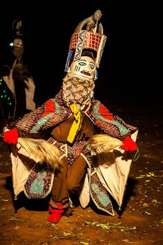 mask gelada du benin in the festival des Masques de Dédougou, Burkina Faso