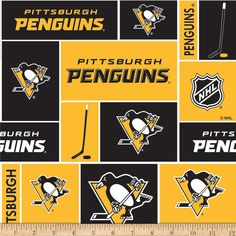 NHL Broadcloth Pittsburgh Penguins from  fabricdotcom Cheer on your  favorite NHL Team with this printed 6466fc30541c