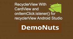 Recyclerview with cardview example developed with android studio.