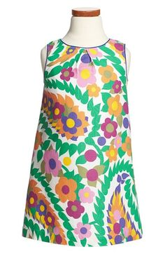 Mini Boden 'Summer' Sleeveless Linen & Cotton Dress (Toddler Girls, Little Girls & Big Girls) | Nordstrom