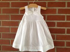 NWT Janie and Jack 12-18 months SPRING GREEN White Eyelet Sleeveless Dress #JanieandJack #DressyEverydayWedding