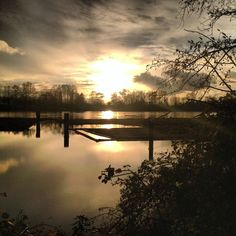 Fraser River at Sunset Fraser River, Let Me Go, Solitude, Vancouver, Sky, Celestial, Sunset, Water, Outdoor