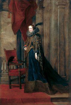 Paola Adorno( ?-1647) était la fille d'un premier lit de Giovan Battista Adorno (avec Paola Spinal) married Anton Giulio Brignole Sale (1605 - 1662) patricien et homme politique génois fils du doge Gian Francesco I Brignole et de Geronima Sale.. , V.Dyck1627
