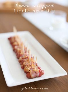 Bacon Wrapped Little Smokies | easy appetizer made in minutes | Father's Day
