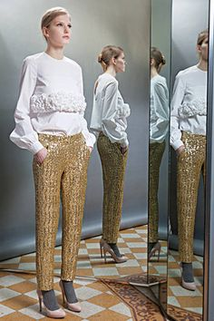 Sequined and Jeweled Separates and Accessories - Discover More Spring Fashion Trends - ELLE#slide-1