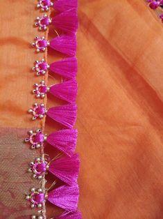 Pallu Saree Jacket Designs, Saree Tassels Designs, Saree Kuchu Designs, Pattu Saree Blouse Designs, Blouse Designs Silk, Saree Blouse Patterns, Dress Neck Designs, Hand Embroidery Designs, Applique Designs