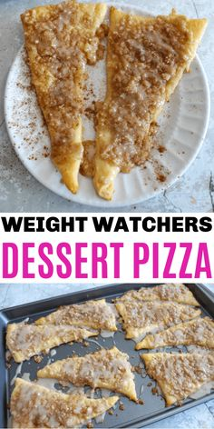 Weight Watchers Dessert Pizza is made with cinnamon and sugar and is so good. This is a quick and easy recipe to make and will satisfy your sweet craving. #ww #weightwatchers #wwfreestyle Weight Watchers Desserts, Weight Watchers Meal Plans, Weight Watchers Diet, Ww Desserts, Dessert Recipes, Dessert Ideas, Fun Easy Recipes, Ww Recipes, Quick Easy Meals