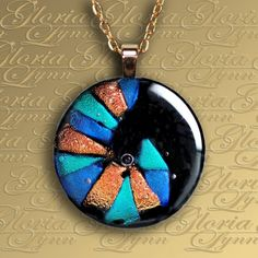 Fused Dichroic Glass Pendant Jewelry Dichroic by GloriaLynnGlass, $24.00