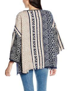 Saint Tropez N4040-chaqueta punto Mujer Elfenbein (Ice 1053) Talla única: Amazon.es: Ropa y accesorios