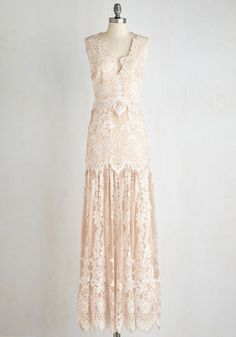 Night of a Lifetime Dress in Champagne $694.99 AT vintagedancer.com