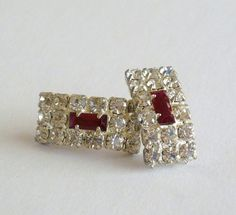 Crystal Earrings Crystal Pierced Earrings by MaisonChantalMichael