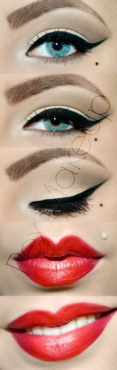 pin up rockabilly makeup - Google Search                                                                                                                                                                                 More