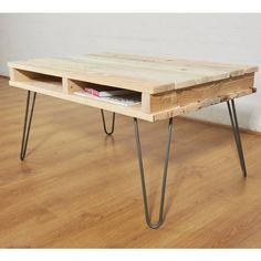 Reclaimed Pallet Coffee Table Iron Legs