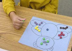 Teddy Bear Theme and Teaching Ideas. listening skills activity with template and beads