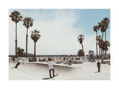 """Santa Barbara Skate 3"" - Art Print by Kamala Nahas in beautiful frame options and a variety of sizes."