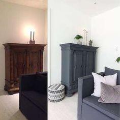 MALE OM: Å bruke kalkmaling til å fornye gamle møbler, gjør hjemmet både personlig og særegent, mener Kokaas. FOTO/Produsent: Fargerike, Pur&Original.