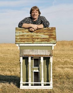 At home in Missouri, Country Living Guild member Rick LaChance turns salvaged wood and metal into birdhouses with architectural appeal.