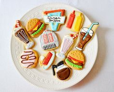 Peachy Cheek: retro diner cookies [A dozen eggs bake shoppe]