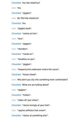 Cleverbot sexually conversations