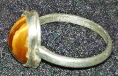 Vintage Sterling Silver and Tiger's Eye Ring Size 3 Made By Uncas Vintage Antiques, Antique Jewelry, Jewelry Watches, Eye, Sterling Silver, Rings, Old Jewelry, Ancient Jewelry, Ring