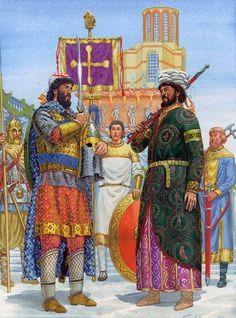 Byzantine Imperial Guardsmen: Palace ceremony, 31 May 946