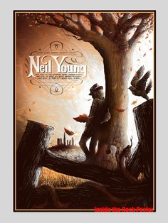 Neil Young Harvest Album Poster by Zeb Love