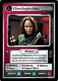 Star Trek Ccg, Si Fi, Star Trek Starships, Star Trek Universe, Star Trek Voyager, Female Characters, Trading Cards, Science Fiction, Leadership